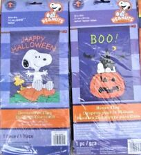 New listing Snoopy & The Peanuts Gang Halloween Large Decorative Flag -Choose 1