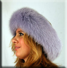 New Lilac Purple Fox Fur Headband 26 Inches Long and 5 Inches Wide - Efurs4less