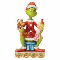 """Jim Shore 2020 Dr. Seuss The Grinch With Cindy And Max Statue 7"""" Figurine NIB"""