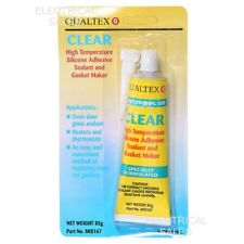 HIGH TEMP SILICONE CLEAR GLUE SEALANT EXCELLENT ADHESIVE TO METAL & GLASS