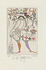 Original Etching Playing Card by NOZDRIN YURY / Russia