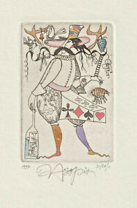 Original Etching Playing Card by NOZDRIN YURY / Russia