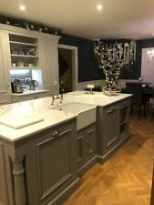Belfast sink kitchen larder island units Bespoke solid wood hand made kitchens