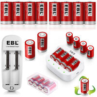 Lot EBL RCR123A 16340 Li-ion 3.7V Rechargeable Battery /18650 16340 USB Charger