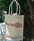 NEW Limited Edition Starbucks China Pu'er Grand Opening Jute Tote Shoulder Bag
