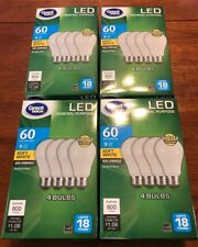16 Pack LED 60W = 9W Soft White 60 Watt Equivalent A19 2700K E26 Bulbs 800 Lumen
