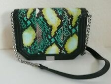 Foley + Corinna Plated Small Crossbody Bag Island Watersnake + Black Leather
