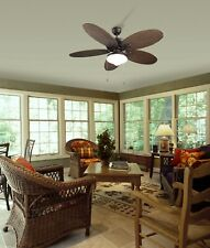 """Outdoor Design Ceiling Fan Phuket Brown 132 cm / 52"""" with light and pull cord"""