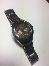 Fossil Women's Watch Chronograph Brown Stella ES3021 All SS WR 5ATM New Battery