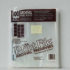 Print File 120 Archival Negative Preservers 120-3HB Opened Package of 57 NOS