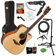 Yamaha Fgx800C Acoustic-Electric Guitar - Natural Complete Guitar Bundle