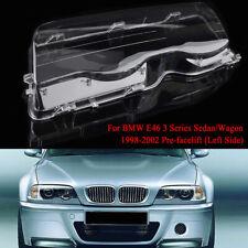 Left Front Side Headlight Cover Lens For BMW E46 3-Series 323i 325i 328i 98-01