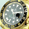 ROLEX GMT MASTER ll 116718 18K YELLOW GOLD BLACK DIAL CERAMIC BEZEL 116718