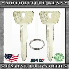 2 New Blank Key For Yamaha Motorcycles Lock Codes: A7001-A8500 Keyway Ym63