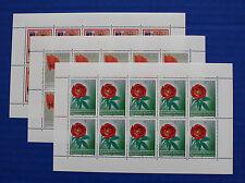 Kosovo UNMIK (#28-30) 2005 Flowers MNH sheet set