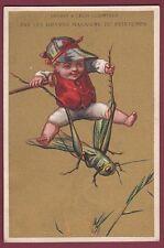 Chromo AU PRINTEMPS - 180413 - sauterelle cavalier jockey