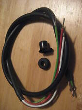 NEW BMW 4 WIRE HARNESS HI/LOW BEAM+HORN.BUCKET+D GROMMETS FITS CHROME SWITCH