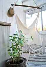 Hanging HAMMOCK CHAIR Relax in Luxury Comfort French Provincial Shabby Cream NEW
