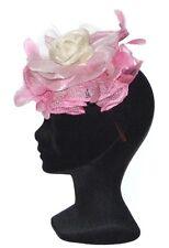 CHAPEAU femme TAILLE UNIQUE 82€ serre tête cérémonie Made in France rose & blanc