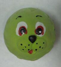 Penn Plax RFLP3 2.5 in. Squeaky-Play Face Latex Dog Throw Ball - Green Lion