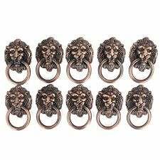 Dresser Drawer Cabinet Door Ring Lion Head Pull Handle Knob 10pcs M9F6
