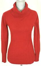 Marina Luna RED Cashmere Turtleneck Sweater Small S