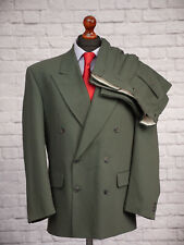Oakland Suit 40R 34W 29L Green Wool Blend Double Breasted Peaky Blinders Men's