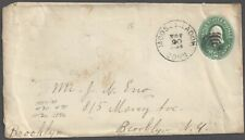 Moose Meadow, Ct ~1896 Town cds & target cork cancel on 2c green Pse to Bklyn Ny