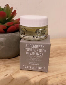 NEW IN BOX Youth To The People Superberry Hydrate + Glow Dream Mask 15ml 0.5oz