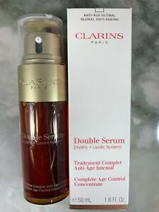 Clarins Double Serum Complete Age Control Concentrate 1.6 oz / 50 ml NEW