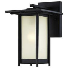 Westinghouse 6203800 Clarissa One Light Outdoor Wall Lantern Textured Black