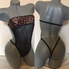 Exotic Dancer Stripper Sexy Designer Fishnet Romper