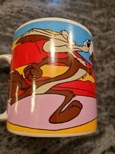 Vintage mug, Road Runner & Wile E. Coyote, 1994 Warren Bros., By Sakura
