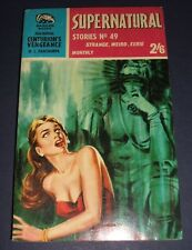Supernatural Stories, No. 49 Badger Books 1961 1st edition Vintage Paperback
