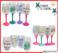 SUMMER PROSECCO WINE TUMBLER GLASS BBQ Cocktail Party Glasses Garden Tableware