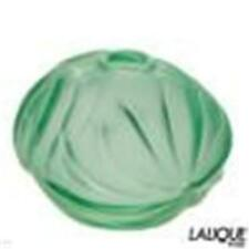 LALIQUE SOLIFLORE A ROYAL PALM MENTHE COLLECTION MADE IN FRANCE STUNNING VASE