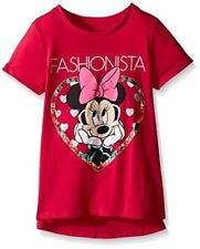 Disney Minnie Mouse Fashionista Girl Pink Glitter S/S Tunic T-Shirt Top 5 6 6X