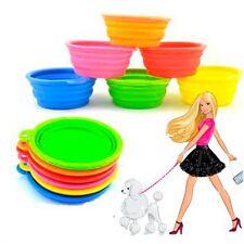 Fashion Portable Collapsible Dog Travel Water Feeder Feeding Bowl Silicone