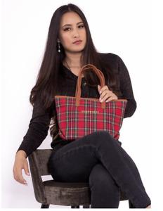 Inverness Tartan Check New Angela Small tote Bag Stewart Royal Lindsay Malcolm