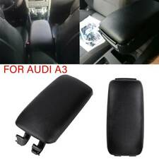 Leather Center Console Armrest Lid Cover Black Leather For Audi A3 8P 2003-2013