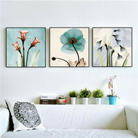 AU_ Floral Canvas Print Art Wall Painting Poster Picture Bedroom Home Decor Sanw