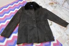 Ladies Coat Brown Polyester Fur