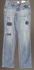 Girls Jeans Size 10 Slim Total Girl Straight Leg Embellished Adjustable Waist
