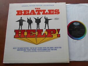 CANADA!!! Ex THE BEATLES Help 1965 1st Press MONO CAPITOL LP MAS-2386 OST