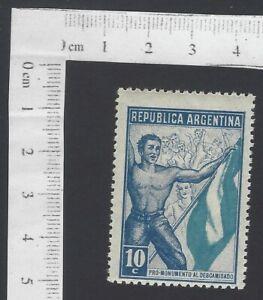 Argentina cinderella stamp Descamisado = Shirtleess Monument 10c MH