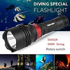 Waterproof 500M 5000LM Flashlight XM-L T6 LED Diving Underwater SCUBA Torch Lamp