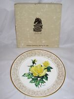 """Boehm, Rose Plate Collection, 1979, LE, THE ELEGANCE ROSE Plate w/Box, 10 7/8"""""""