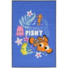 Nemo Fish Friendly Fishy Rug Kids Bedroom Floor Play Mat Licensed 100x150cm