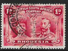 Rhodesia stamps 1910 SG 124 ERROR beard flaw  DOUBLE HEADS  CANC  VF