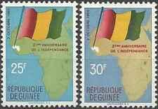 Timbres Drapeaux Guinée 41/2 * lot 23485